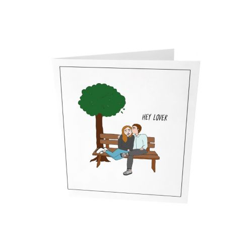 Greeting card - Hey lover