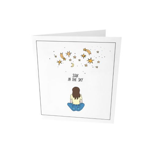 Greeting card - Star in the sky