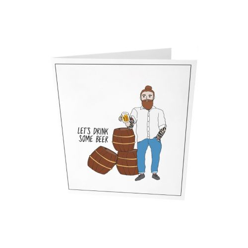 Greeting card - Let's drink some beer