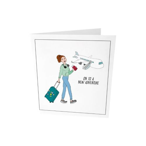 Greeting card - On to a new adventure